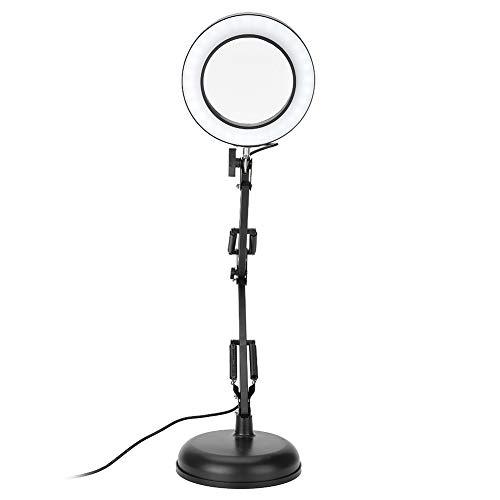 Lupa Iluminadora LED, 5x Lámpara de lupa, Brazo giratorio ajustable Lámpara de lupa de tatuaje, Patrón de maquillaje