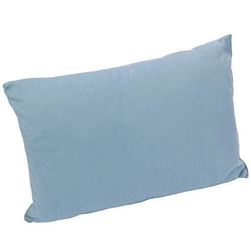 10T Deluxe Pillow Blau 40x30x10 cm Fleece Kissen Reisekissen Kopfkissen Nackenkissen mit Packsack