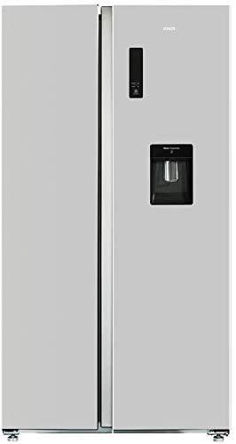 CHiQ FSS559NEI32D - Frigorífico americano, 559L, Compresor Inverter, Multi-air-flow, Total No Frost, Color Acero Inoxidable, Altura 1.77m, Compresor con 12 años garantia, A++