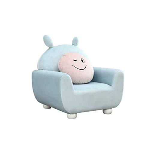 DIAOD Kinder Sofa, Kinder Kaninchen Sessel Kinderstuhl Mädchen-Junge-Seating Stuhl Cartoon Sofa Blau for Schlafzimmer Spielzimmer kurzen Plüsch-Sessel