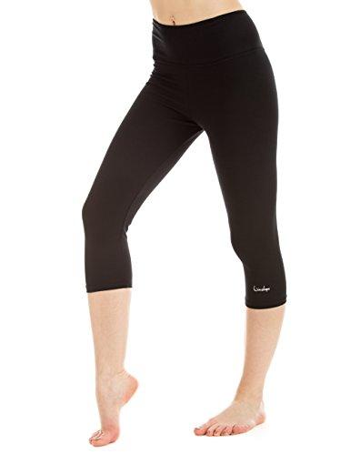 WINSHAPE Damen Slim Tights Leggings WTL2 Fitness Yoga Pilates, schwarz, S