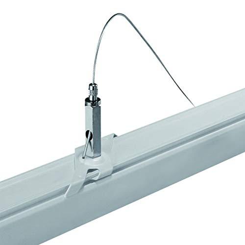 Powergear Barre de traction 3 phases avec câble en acier Noir et blanc 3 m Weiß