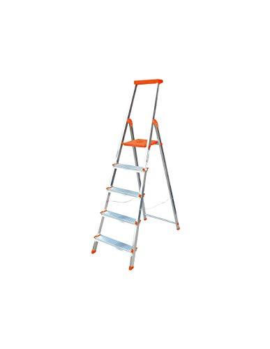 Escalera Rolser Aluminio BriColor 5 Peldaños - Mandarina