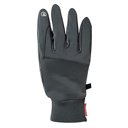 Jeff & Aimy Warme Unisex Handschuhe cycling gloves fahrradhandschuhe herren touchscreen wasserdichte gloves winter für Herren und Damen Grau