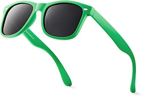Retro Rewind Classic Polarized Sunglasses,Green   Smoke Polarized