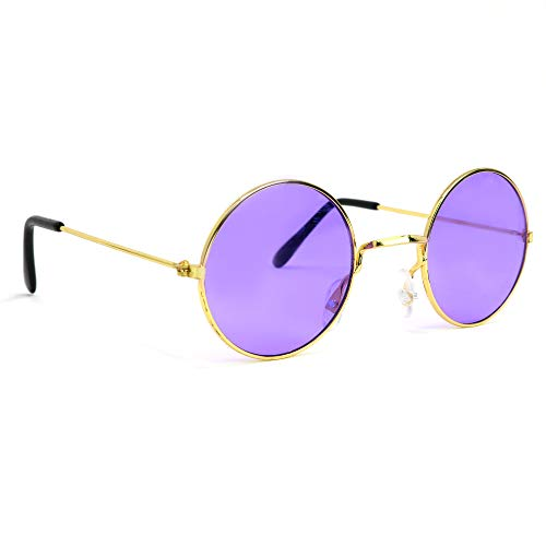 Purple Round Hippie Shades