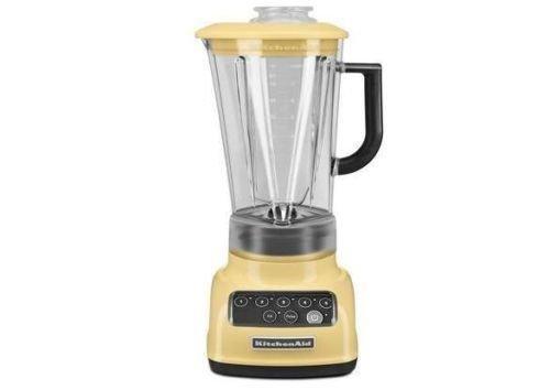 KitchenAid RKSB1570MY 5-Speed Blender with 56-Ounce BPA-Free Pitcher - Majestic Yellow (Renewed)
