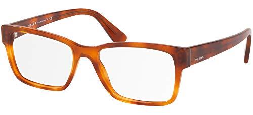 Prada 0PR 15VV Monturas de gafas, Light Havana, 53 para Hombre