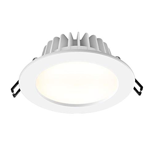 OUUED LED Recessed Ultra-Thin Round Panel Light Lámpara de techo de ahorro de energía - Waterproof IP44 Aluminium Decorative Downlights for Pathway Living Room Bathroom
