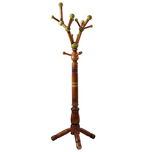 NSYNSY Sombrero y Abrigo de pie Perchero Perchero Chasis Redondo de Madera Bola Verde Árbol de Navidad, 1800 mm * 600 mm (Tamaño: árbol de la Fortuna de Madera Maciza de Tres Patas)