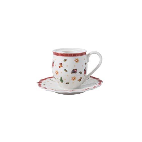 Villeroy & Boch - Toy's Delight Decoration Kerzenhalter Becher mit Henkel, Teelichthalter in Form eines Bechers, Porzellan, bunt, 10 x 6 cm