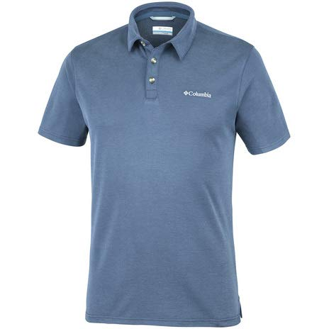 Columbia Bromines Way Polo Homme, Mountain, FR : L (Taille Fabricant : L)