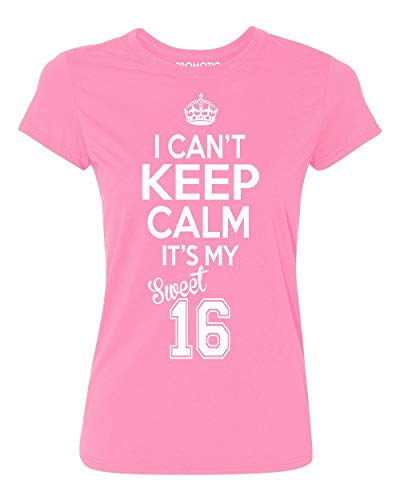 P&B Sweet Sixteen It's My Birthday! Women's T-Shirt, M, Azalea Pink