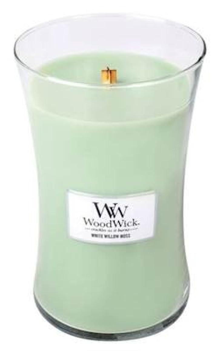 WoodWick White Willow Moss Pluswick Large Hourglass Candle, 22 oz.