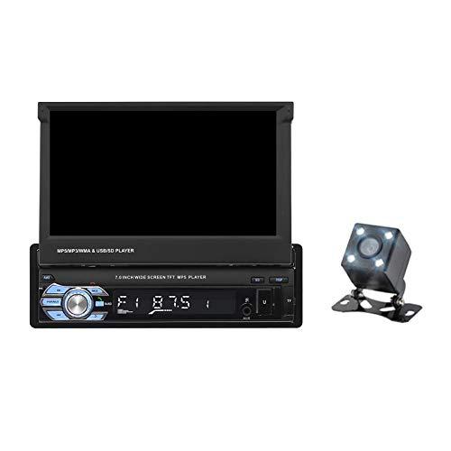 #N/A/a Radio de Coche 7'Reproductor MP5 Estéreo Bluetooth Retráctil Pantalla Táctil 9601 - Normal