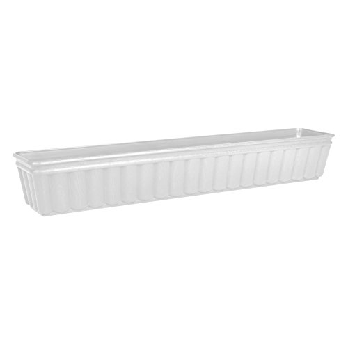Emsa 959101200 Balcone - Jardinera (100 cm), color blanco