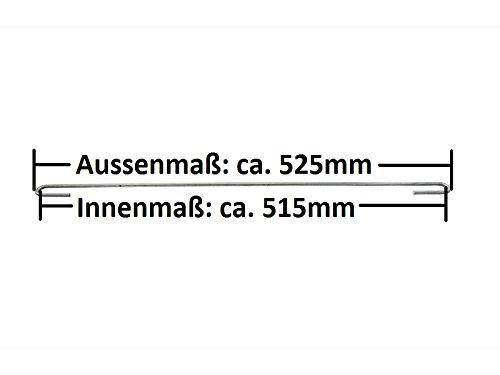 Zaundirekt 25x Distanzhalter L=525mm Spannhaken Abstandshalter Haken Gabione Steinkorb