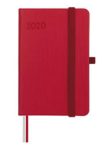 Finocam - Agenda 2020 semana vista apaisada Mínimal Textura Rojo catalán