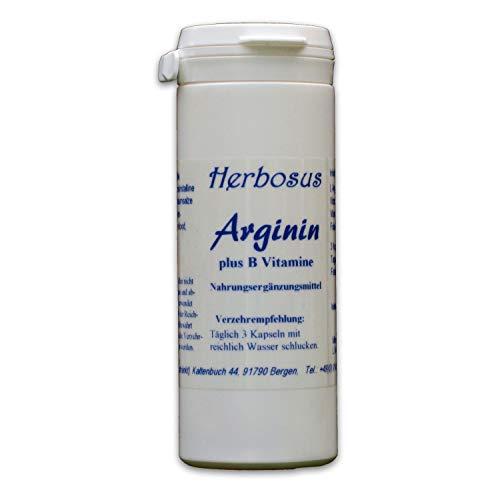Arginin plus B Vitamine 60 Kapseln von Herbosus, Vitamine B6, B12 und Folsäure