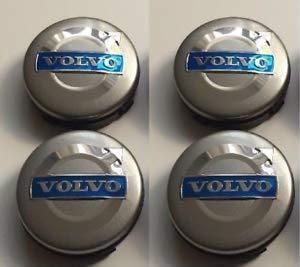 4 x 60mm Adesivi Cerchi in lega nero e argento PUNITORE center cap bAdge Trim