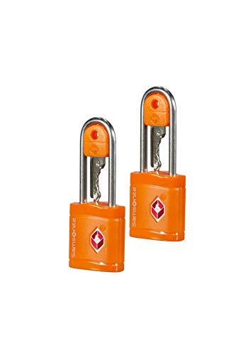 Samsonite Global Travel Accessories TSA Key Luggage Lock 2x, 6 cm, Orange