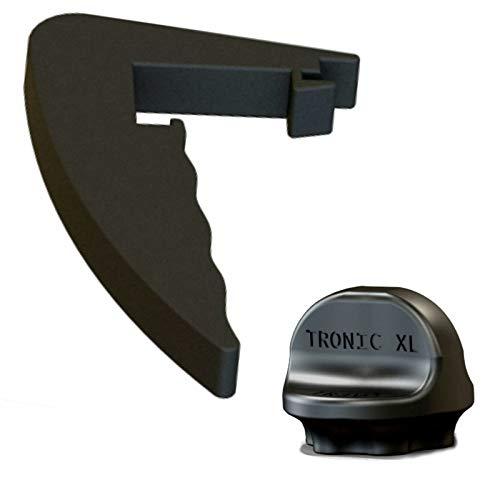 TronicXL - Set di girarrosto + manico di alta qualità, manico rimovibile, ricambio per Lidl Monsieur Cuisine Connect, accessorio nero