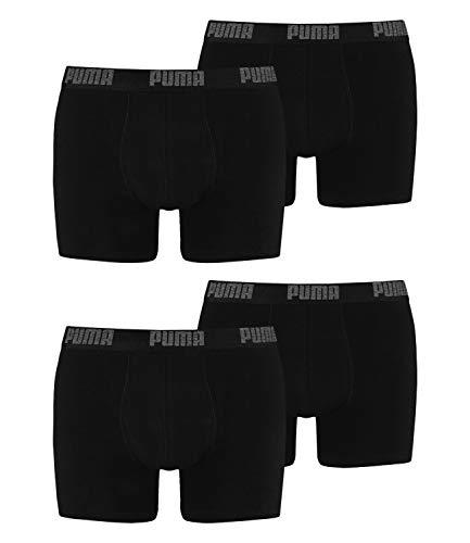 PUMA 4 er Pack Boxer Boxershorts Men Herren Unterhose Pant Unterwäsche, Farbe:230 - Black/Black, Bekleidungsgröße:L