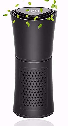 HSTD Purificador de Aire, Air Purifier, Luz de Noche Función de Aromaterapia Purificador de Coche con Filtro HEPA y Filtro de Carbón Activado Elimina el 99,97% del Polvo de Alérgenos del Humo
