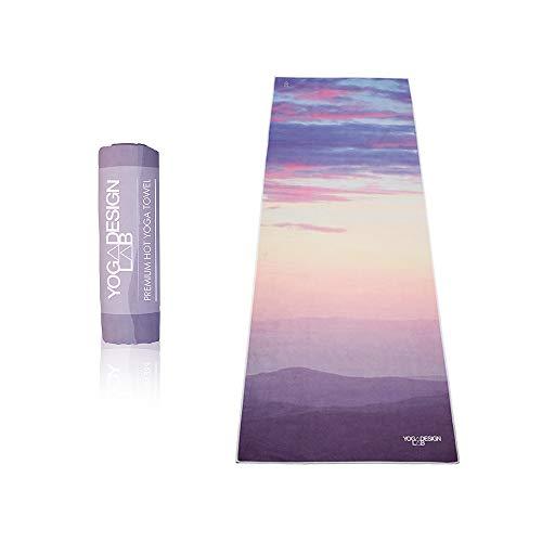 Yoga Design Lab | Toalla de Yoga | Suave y Acolchada | Antideslizante | Absorbente | Hecho de Microfibra de Botellas recicladas | Diseñada con tintas ecológicas (Breathe)