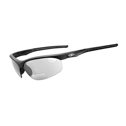Tifosi Veloce Light Night Fototec Readers Sunglasses, Matte Black, +2.0