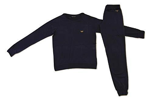 Emporio Armani Damen Long Pajamas Deep Blue 164134, Blau L