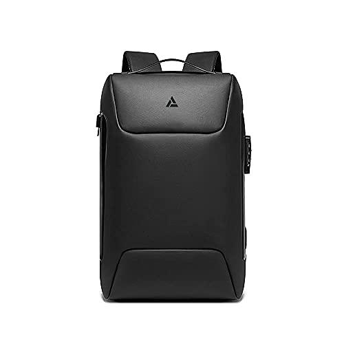 Mochila compacta para portátil, Mochila inteligente para negocios, puerto USB, Impermeable, diseño fino, Antirrobo, Mochila transpirable de viaje