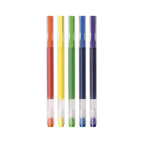 Xiaomi Mijia Kugelschreiber, sehr haltbar, bunt, 5 Farben, 0,5 mm, Gelschreiber, für Schule, Büro, Zeichnen
