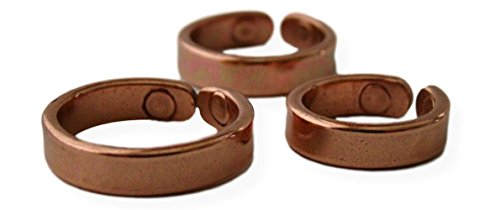ProExl Solid Copper Magnetic Therapy Ring Lapaz with Gift Box (7.0)