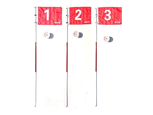 A99 Golf 3pcs Portable Flag w. Cup Practice Hole Pole Backyard Putting Green #1#2#3