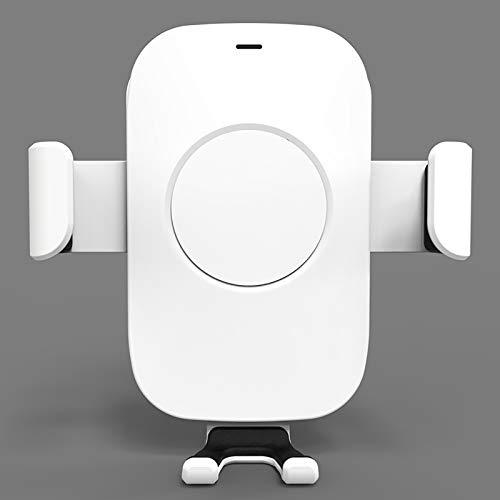 Coche 10W Cargador inalámbrico de Carga rápida Soporte de la Gravedad Cargador inalámbrico de teléfonos móviles Cargador Soporte Universal,Blanco