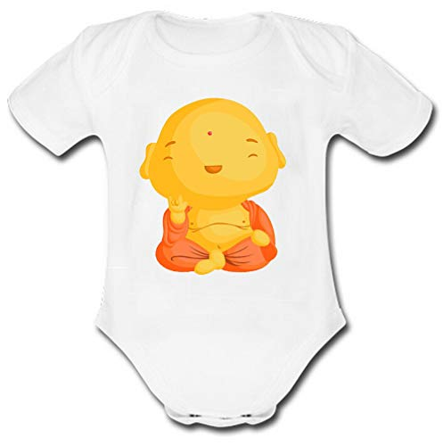 BXBCASEHOMEMAT Baby Buddha Baby Clothes White
