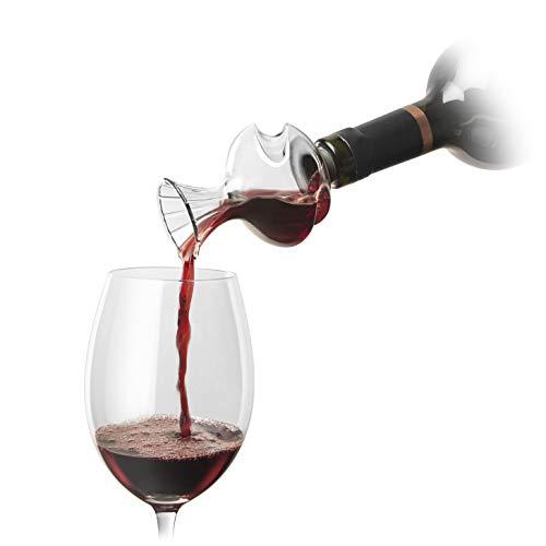 La Swirl–Aireador de vino con soporte de cristal de la botella de vino Aroma y Sabor Enhancer