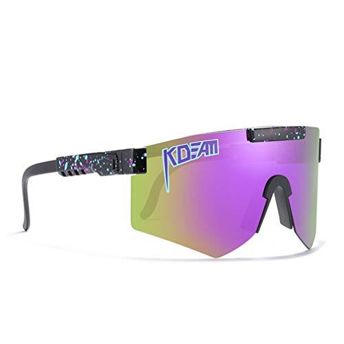 Gafas De Sol Polarizadas Deportivas, Gafas A Prueba De Viento Al Aire Libre para Hombres Y Mujeres, Gafas De Sol En Bicicleta Gafas De Sol Deportivas Polarizadas,D