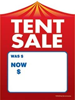 T50TEN Tent Sale was Now - Slotted Sale Tags - 5