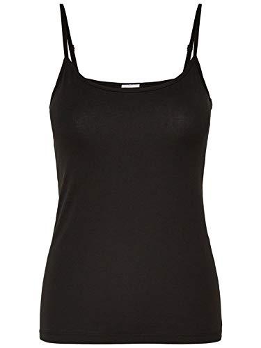JDY Damen Tank Top Stretch Jersey Unterhemd Basic Shirt, Farben:Schwarz, Größe:36