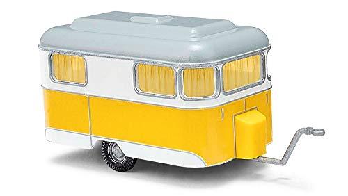 Busch H0 Nagetusch Wohnwagen Gelb