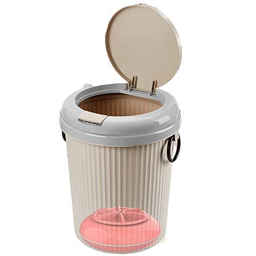 KCCCC Pequeña Lavadora automática de Ropa Interior 8 litros Mesa Barril Turbo Lavadora Ropa Interior Hogar Panty Cleaner Mini Table Barrel Lavadora Mini Lavadora (Color : Pink, Size : 24x24x30cm)