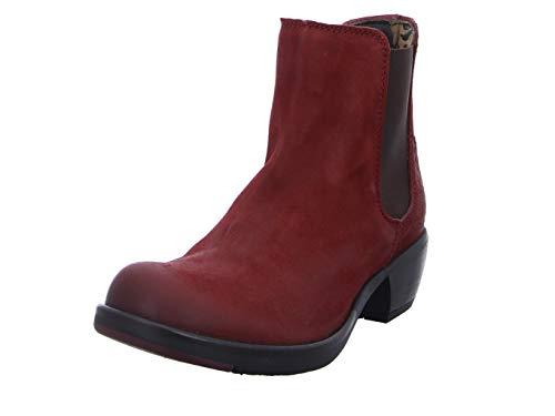 Fly London Damen MAKE Chelsea Boots, Rot (RED 034), 41 EU