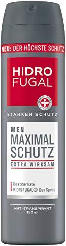 Hidrofugal Men Maximal Schutz Spray (150 ml), hochwirksamer Anti-Transpirant Schutz mit langanhaltend frischem Duft, Deo für Männer ohne Ethylalkohol