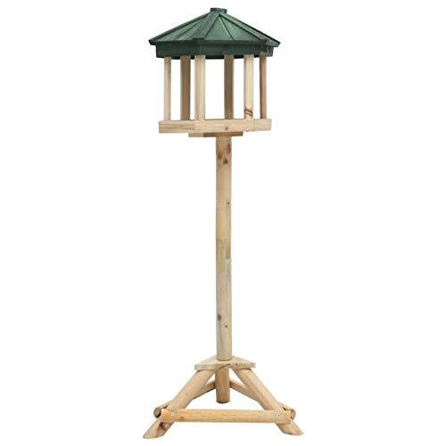 Tidyard Comedero para pájaros de pie Madera Maciza de Abeto 33x106 cm