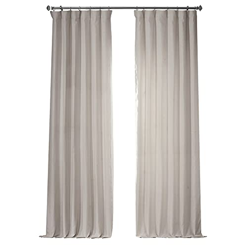 HPD Half Price Drapes LN-XS17 French Linen Curtain (1 Panel), 50 X 96, Ancient Ivory