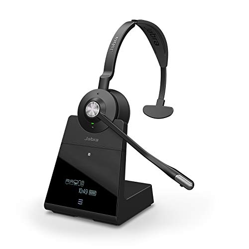Jabra Engage 75 On-Ear Dect Mono Headset - Skype for Business zertifizierter drahtloser Kopfhörer mit Noise-Cancelling für Tischtelefone und Softphones - schwarz - EU-Version