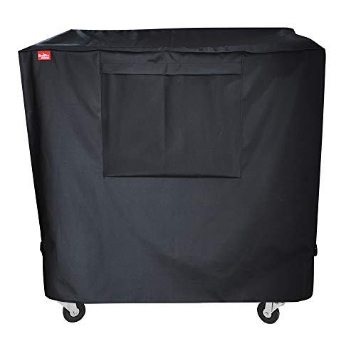 BroilPro Accessories Waterproof 80-100 Qt Rolling Cooler Cart Cover Fits Most Patio Ice Chest Party Cooler Upto 43L x 22W x 32H inch