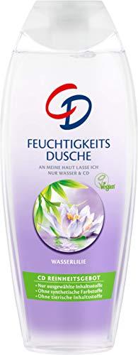 CD Feuchtigkeitsdusche 'Wasserlilie', 6 x 250 ml, Duschgel für belebende Frische, für empfindliche Haut geeignet, pH-hautneutral, vegane Körperpflege